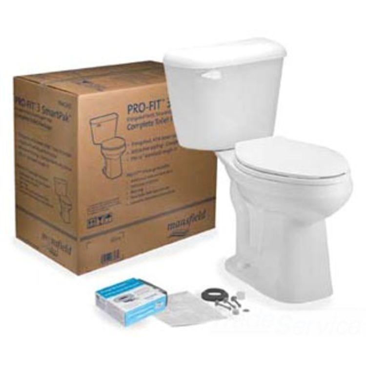 View 3 of Mansfield 4137CTK-BONE Mansfield 4137CTK-Bone Pro-fit 3 1.28 GPF ADA Elongated Bowl Toilet
