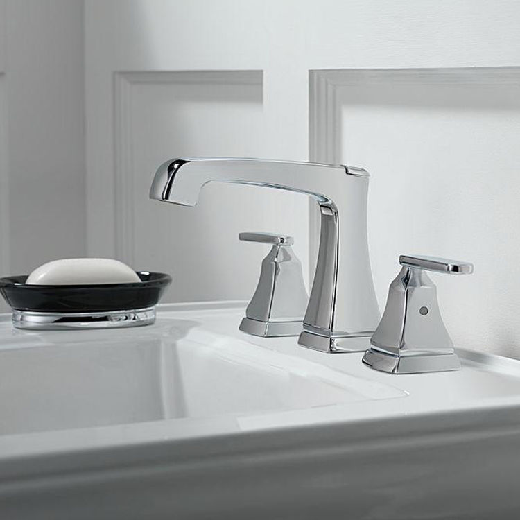View 3 of Delta 3564-SSMPU-DST Delta 3564-SSMPU-DST Stainless Ashlyn Two Handle Widespread Lavatory Faucet