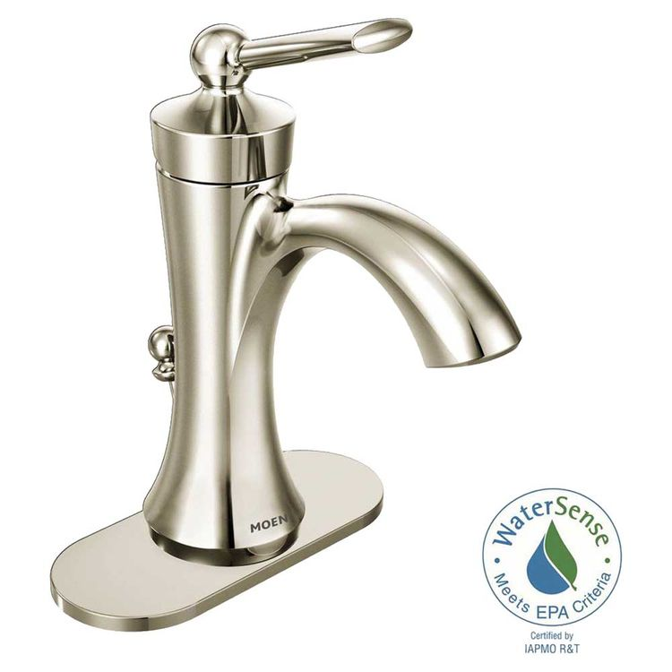 View 3 of Moen 4500NL Moen 4500NL Wynford Polished Nickel One-Handle High Arc Lavatory Faucet