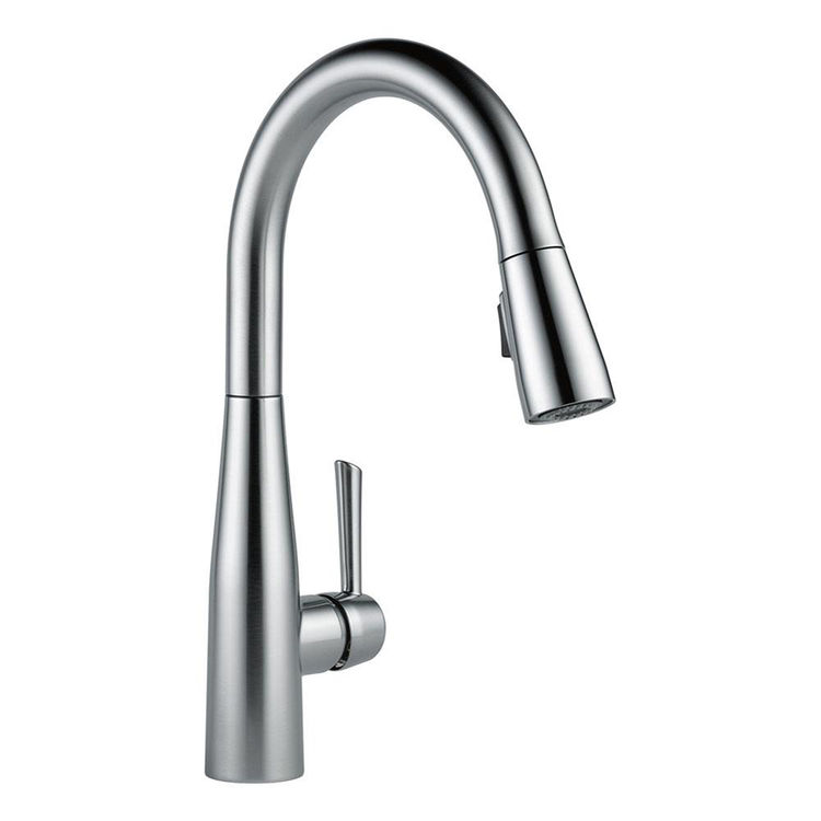 View 4 of Delta 9113-AR-DST Delta 9113-AR-DST Arctic Stainless Single Handle Pulldown Kitchen Faucet
