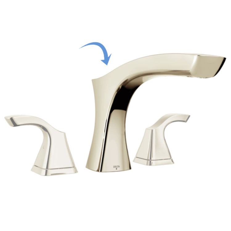 View 3 of Delta RP78517PN Delta RP78517PN Pull-Up Diverter Roman Tub Spout Assembly, Polished Nickel