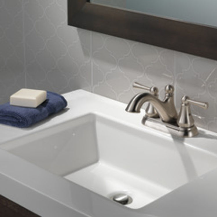 View 4 of Delta 25999LF-SS Delta 25999LF-SS Haywood Centerset Bathroom Faucet with Pop-Up Drain, Stainless