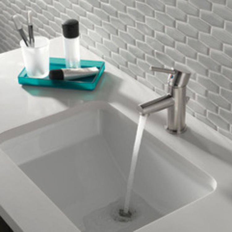 View 4 of Delta 559LF-SSPP Delta 559LF-SSPP Modern Single Handle Project-Pack Lavatory Faucet, Stainless