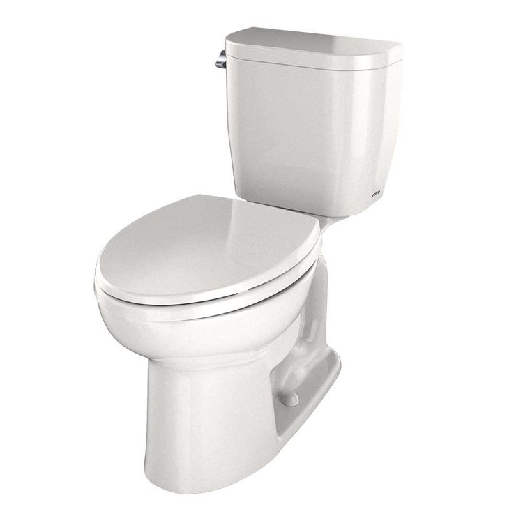 View 4 of Toto CST244EF#12 TOTO Entrada Two-Piece Elongated 1.28 GPF Universal Height Toilet, Sedona Beige - CST244EF#12