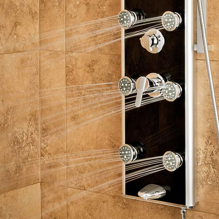 View 3 of Pulse 1022-B Pulse 1022-B Leilani ShowerSpa, w/ Integrated Mirror and Slide Bar, Black