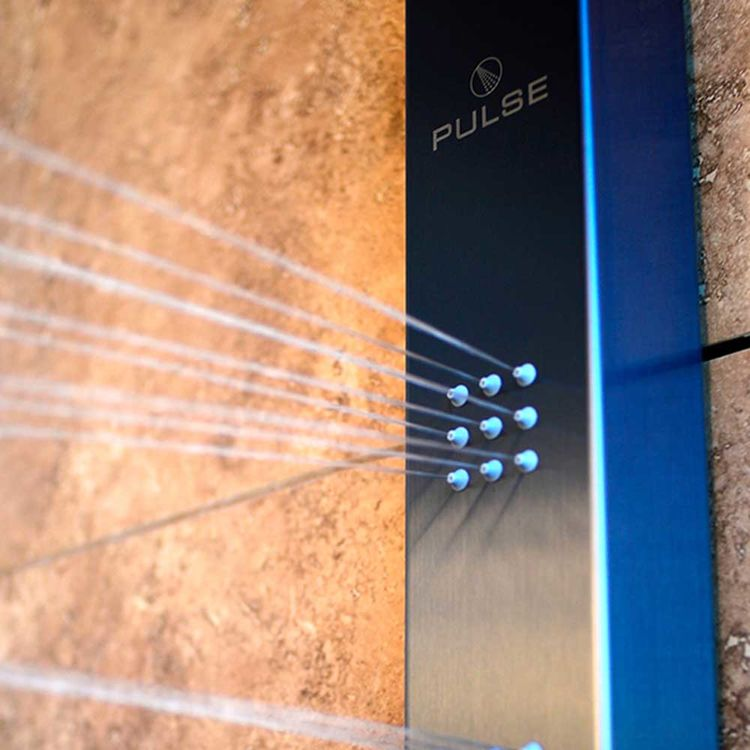 View 3 of Pulse 1051-G Pulse 1051-G Pacifica ShowerSpa, Stainless Steel - Gray Anodized Finish
