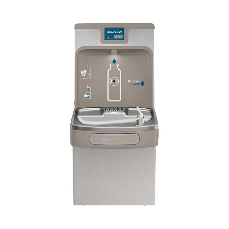 View 3 of Elkay LZS8WSLP Elkay LZS8WSLP Enhanced ezH2O Bottle Filling Station w/ Single Cooler - Filtered, 8 GPH, Wall Mount, ADA, Light Gray Granite