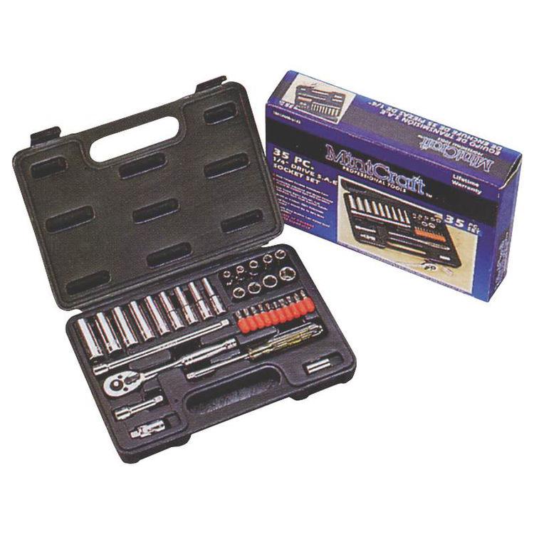 View 3 of Mintcraft TS1035 Mintcraft TS1035 Socket Wrench Sets, 35-Piece - Case of 1