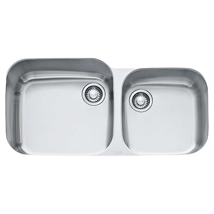 View 4 of Franke GNX120 Franke GNX120 Double Bowl Undermount Stainless Undermount Sink - Stainless