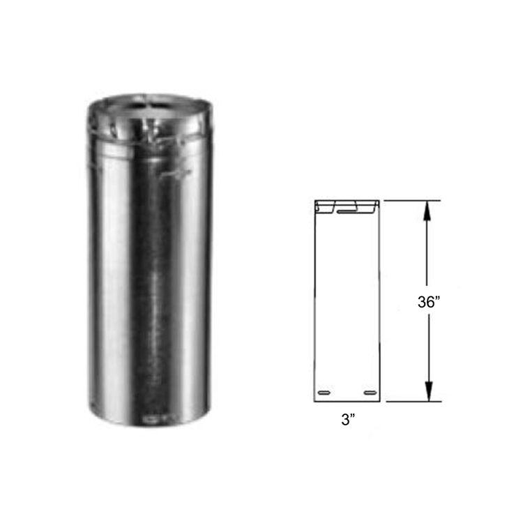 View 3 of M&G DuraVent 3GV36 DuraVent 3GV36 Type B Gas Vent 36-Inch Round Rigid Pipe