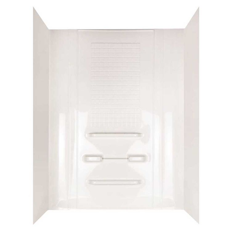 Enhance TW99440A 5-Piece Surround Tile Look Bath Tub Wall Set, 28 in ...