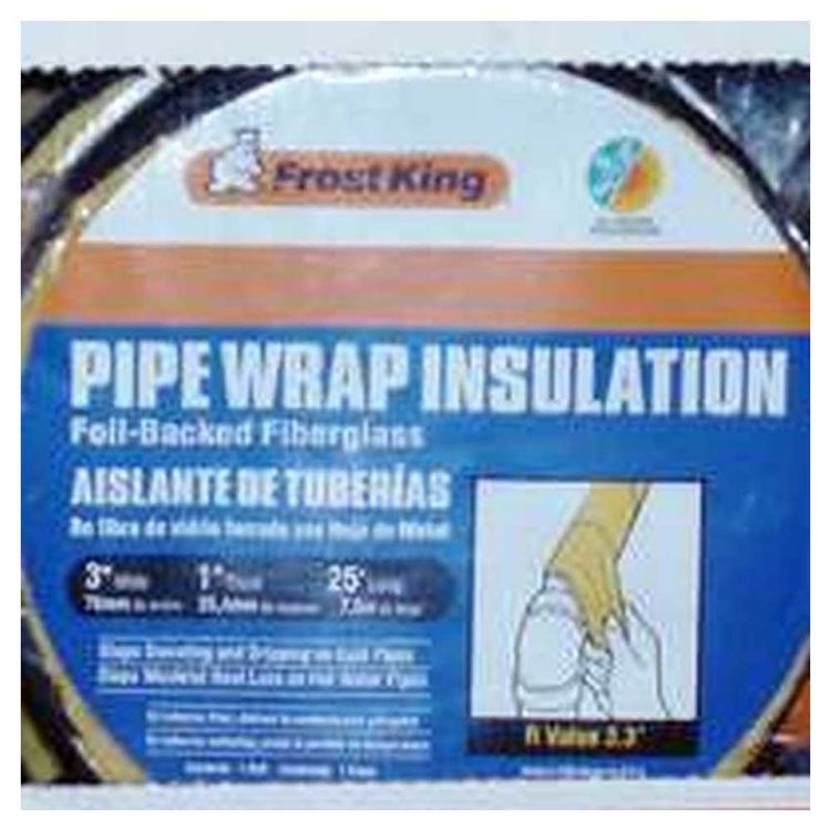 View 2 of Thermwell SP42X/18 Frost King SP42X/18 Pipe Wrap Insulation Tape 3 in OD x 25 ft L x 1 in T, Fiberglass