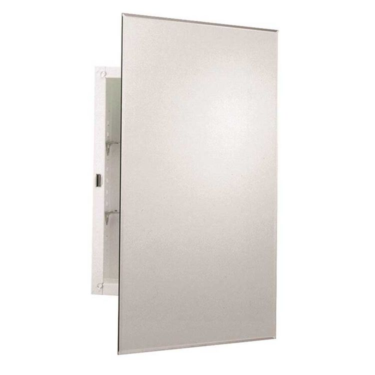 Zenith MM1027 Zenith Prism MM1027 Beveled Mirrored Frameless Swing Door Medicine Cabinet, 16 in W X 4-1/2 in D