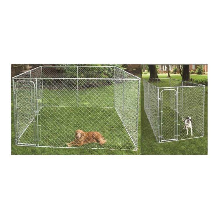 SPS Fence RSHBK11-10977 spsfence RSHBK11-10977 2-In-1 Dog Kennel Box, Steel, Galvanized