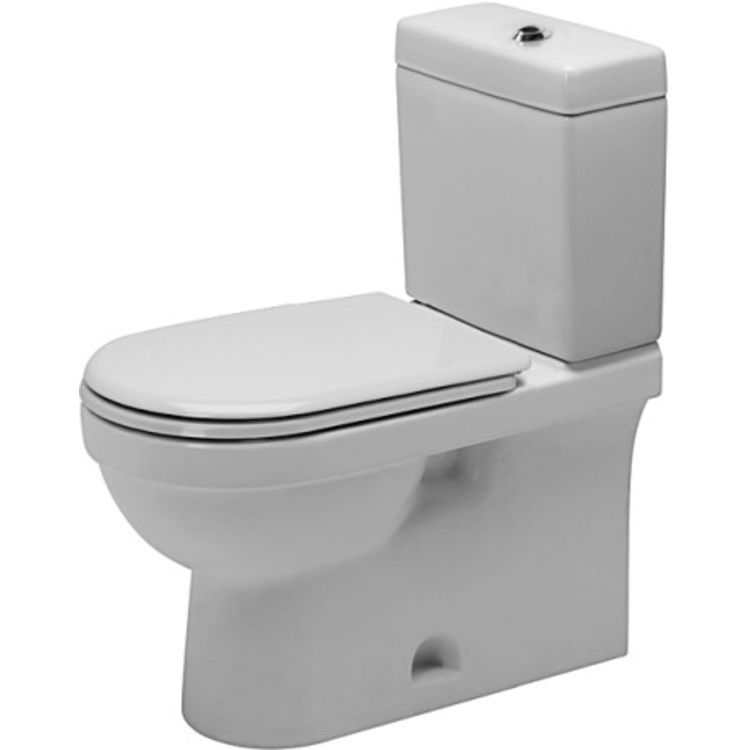 Duravit 112012062 Duravit 0112012062 Happy D.2 Single Flush Two-Piece Floor Mounted Elongated Toilet in White Finish - HygieneGlaze
