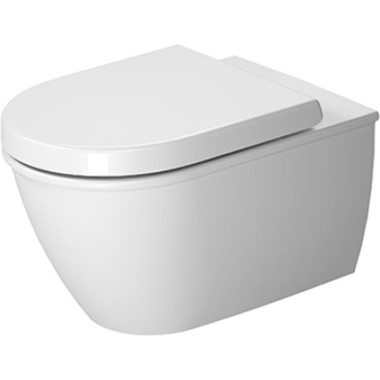 Duravit 2563090092 Duravit 2563090092 Darling New Dual Flush One-Piece Wall Mounted Rimless Elongated Toilet - White