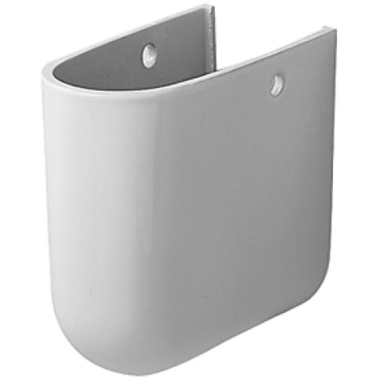 Duravit 8639700001 Duravit 08639700001 Foster Siphon Cover for Bathroom Sink 041970, 041960 and 041955 in White