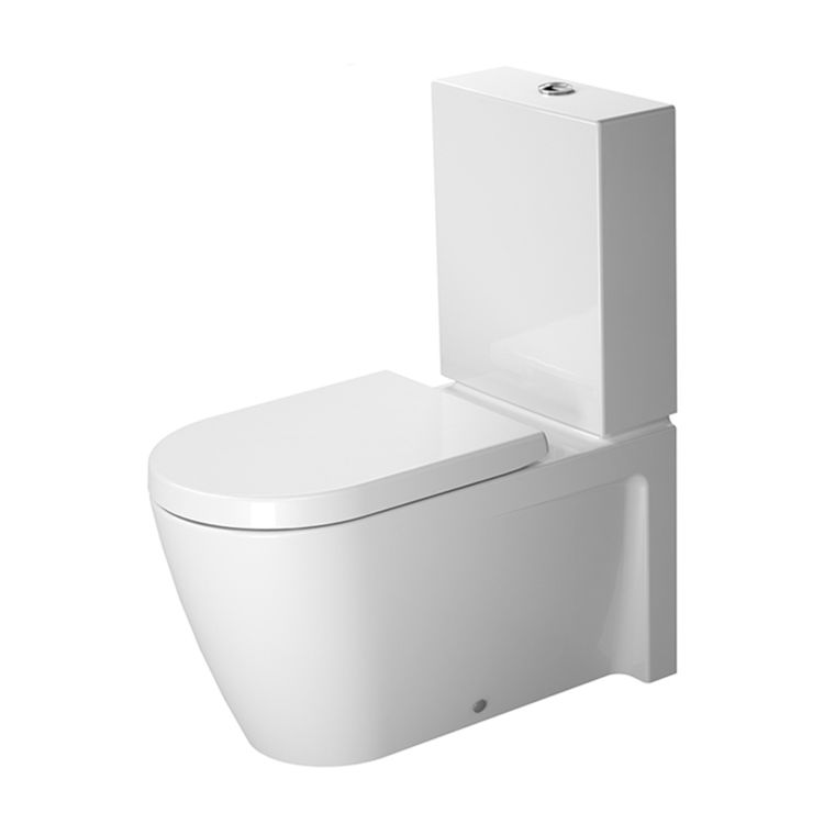 View 6 of Duravit 21290900921 Duravit 21290900921 Starck 2 Dual Flush Two-Piece Floor Mounted Close Coupled Elongated Toilet - White