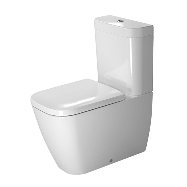 View 5 of Duravit 21340900921 Duravit 21340900921 Happy D.2 Dual Flush Two-Piece Floor Mounted Close Coupled Elongated Toilet - White
