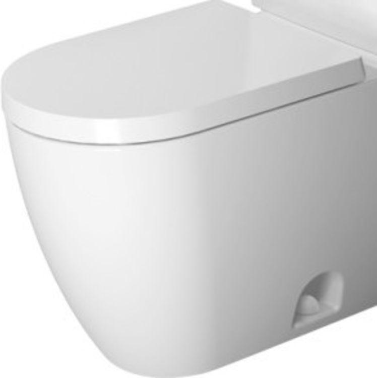 Duravit 21710100851 Duravit 21710100851 ME by Starck Single Flush/Dual Flush Two-Piece Floor Mounted Elongated Toilet - White