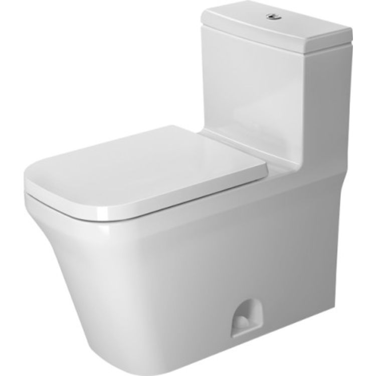 Duravit 21750100011 Duravit 21750100011 P3 Comforts Single Flush/Dual Flush One-Piece Floor Mounted Rimless Elongated Toilet - White