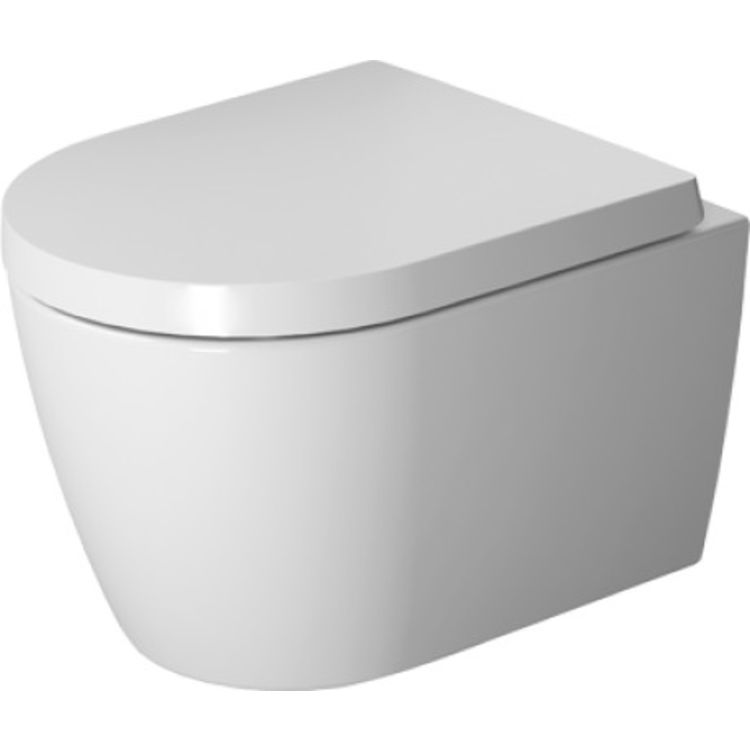 Duravit 25300900921 Duravit 25300900921 ME by Starck Dual Flush One-Piece Wall Mounted Compact Rimless Elongated Toilet - White