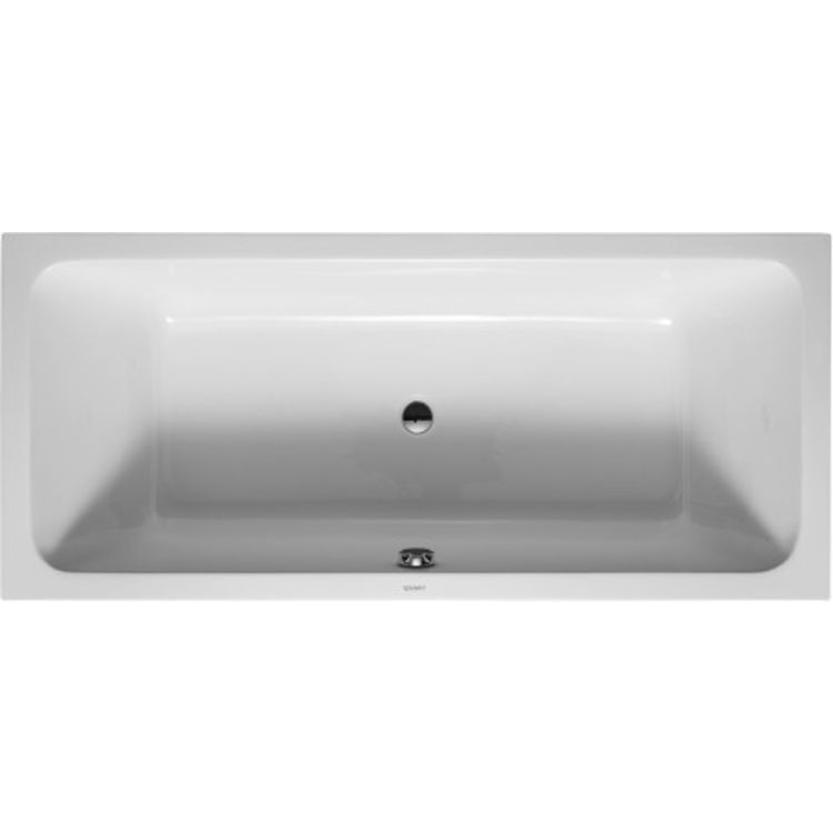 Duravit 700101000000090 D Code 70 78 Drop In Acrylic Soaking Bathtub With Two Backrest And Central Outlet