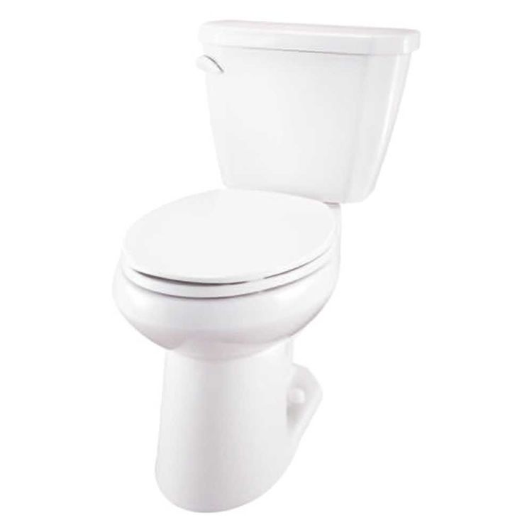 gerber ws 21 524 viper white two piece elongated ergoheight toilet. Black Bedroom Furniture Sets. Home Design Ideas