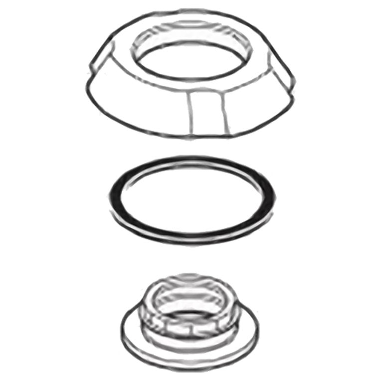 Delta RP61289SS Delta RP61289SS Addison Flange Assembly for Widespread - Stainless