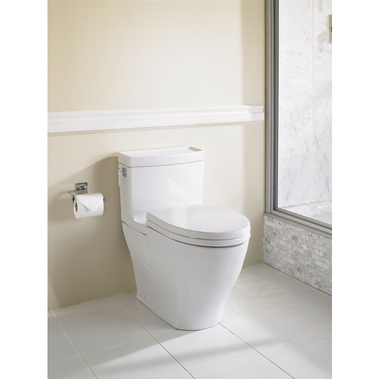 View 5 of Toto MS626124CEFG#11 Toto MS626124CEFG#11 Colonial White Aimes Elongated One-Piece Toilet
