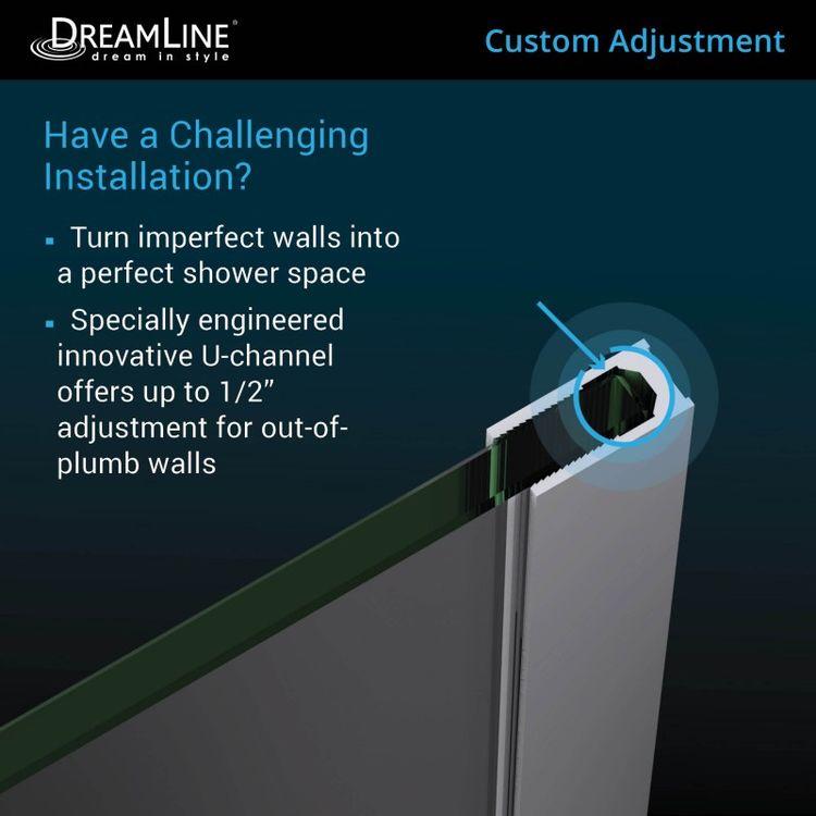 View 8 of Dreamline D3234721M11-08 DreamLine D3234721M11-08 Platinum Linea Surf 34