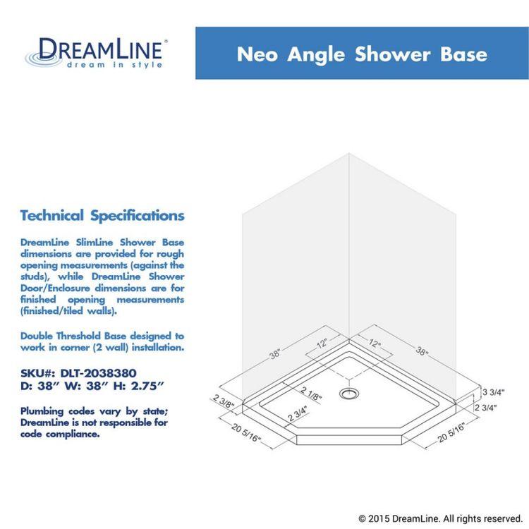View 16 of Dreamline DL-6051-22-06 DreamLine DL-6051-22-06 Prism Lux 38