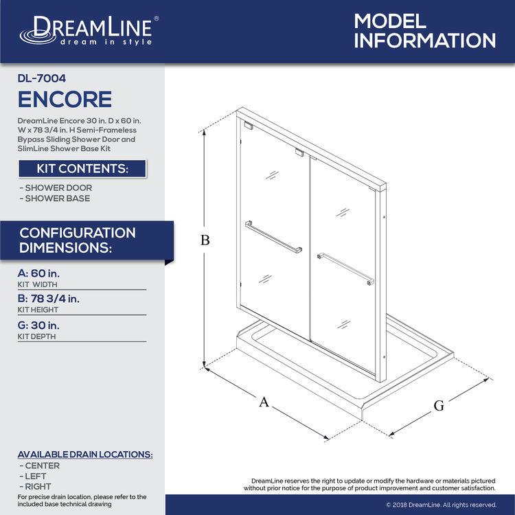 View 40 of Dreamline DL-7004L-22-01 DreamLine Encore 30