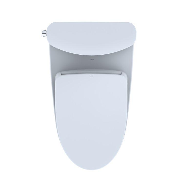 View 8 of Toto MW4423056CEFGA#01 TOTO WASHLET+ Nexus Two-Piece Elongated 1.28 GPF Toilet with Auto Flush S550e Contemporary Bidet Seat, Cotton White - MW4423056CEFGA#01
