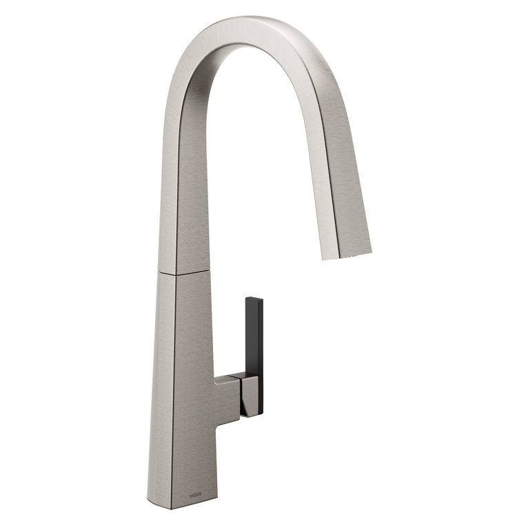 View 3 of Moen S75005SRS Moen S75005SRS Nio One-Handle Pulldown Kitchen Faucet, Spot Resistant Stainless (Handle Accent Included)