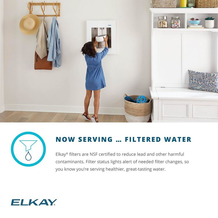 View 11 of Elkay LBWD00WHC Elkay ezH2O Liv Built-in Filtered Water Dispenser, Non-refrigerated, Aspen White - LBWD00WHC