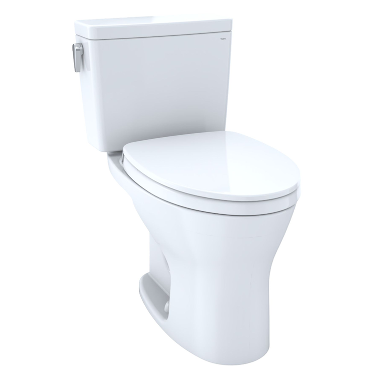 View 3 of Toto CST746CEMG#01 TOTO CST746CEMG#01 Drake Two-Piece Toilet 1.28 GPF & 0.8 GPF Elongated Bowl - Cotton White