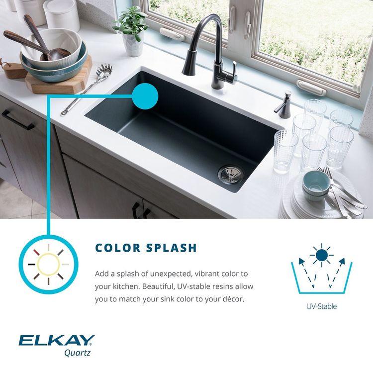 View 6 of Elkay ELGRU13322SD0 Elkay ELGRU13322SD0 Quartz Classic Single Bowl Undermount Sink, Sand