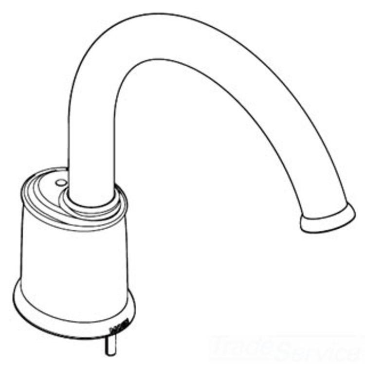 Moen 116660ST Moen 116660ST Castleby Roman Tub Spout Kit for T6989 Series, Satine