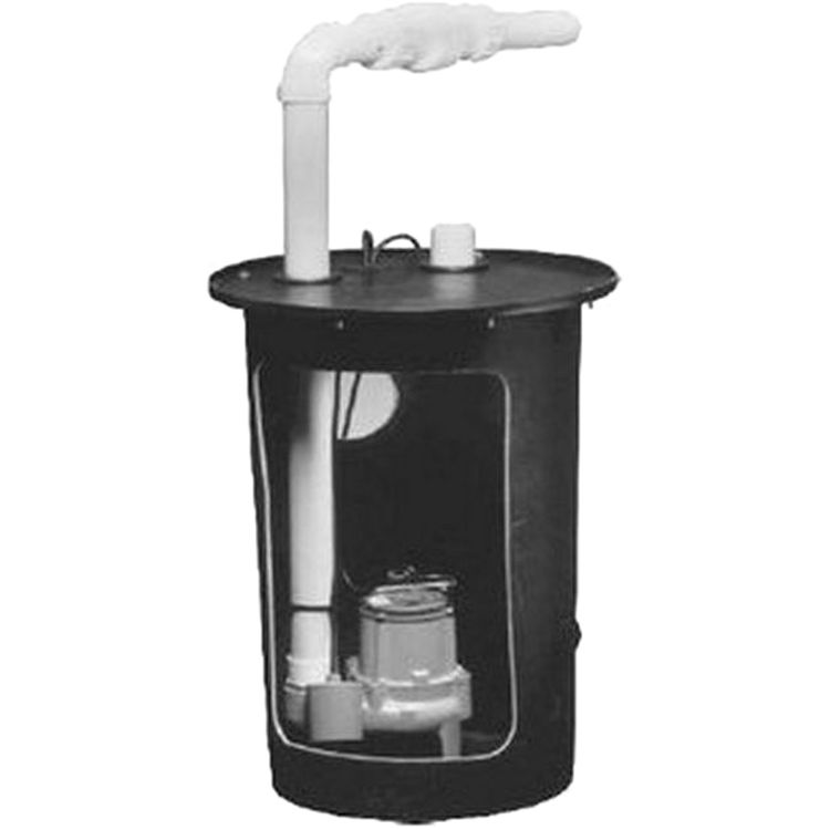 Little Giant 509044 Simplex Sump Pump Package 18X30 Basin W Hole In Basin