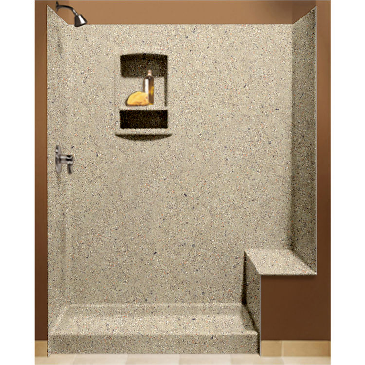 swanstone bk326072122 green prairie shower wall kit with floor wall