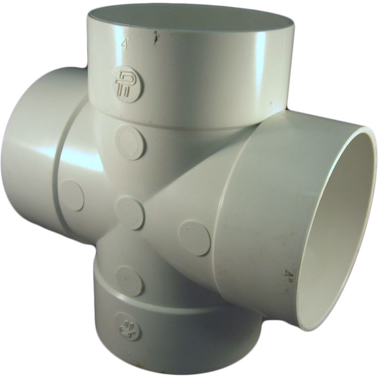 Sdr 35 Pipe : Inch pvc sewer drain tee cross fitting plumbersstock
