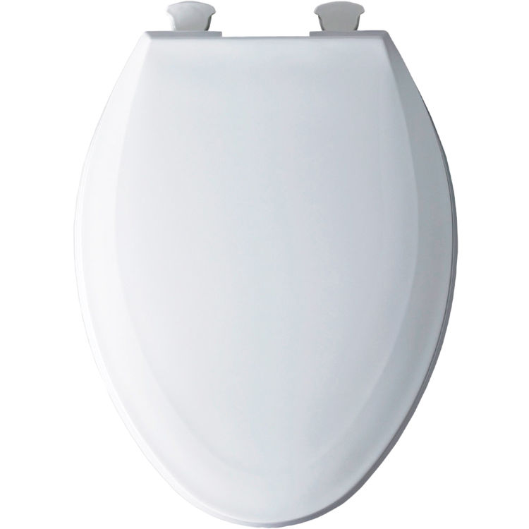 Bemis 1100EC 000 White Closed Front Elongated Toilet Seat With Cover