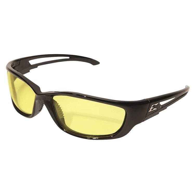 Black XL Frame Smoke Lens Edge Eyewear SK-XL116 Kazbek XL Safety Glasses