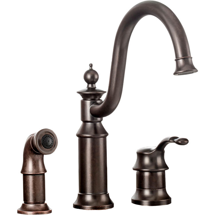 Nice Moen 3 Piece Kitchen Faucet #4: Moen S711ORB Waterhill One Handle Kitchen Faucet In Oil Rubbed Bronze |  PlumbersStock