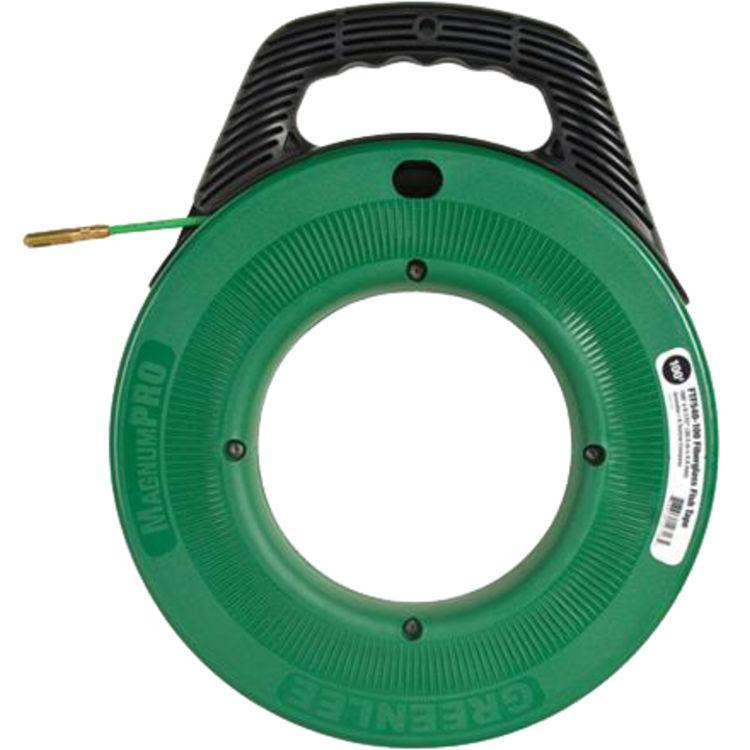 Greenlee ftf540 100 fiberglass fish tape 11 64 x100 for Fiberglass fish tape