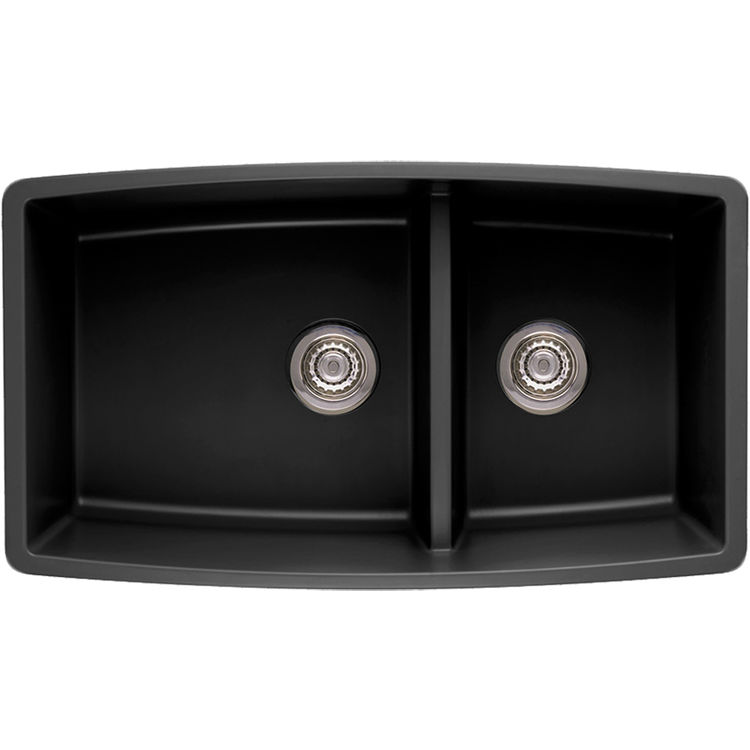 Blanco 441312 Performa Silgranit II 1-3/4 Medium Bowl Sink (Anthracite ...