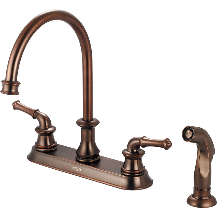 pioneer 2dm301 orb two handle kitchen faucet in an oil