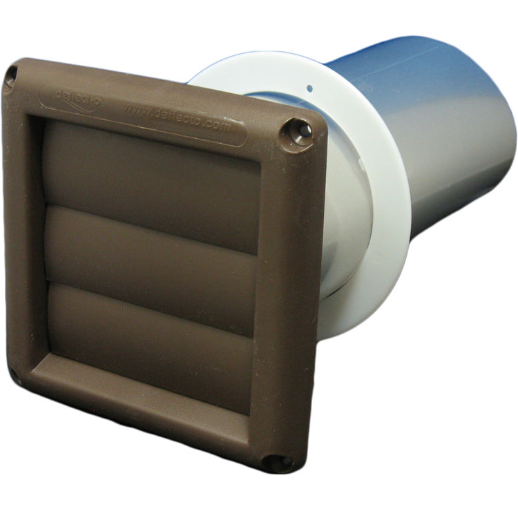Deflecto svhab3 3 louver bath vent brown plumbersstock for 3 bathroom exhaust vent