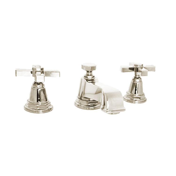 Kohler K 13132 3a Sn Pinstripe Polished Nickel Widespread Bathroom Faucet 650531163295 Ebay